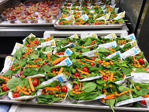 tray of salads