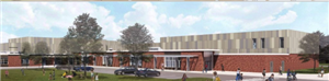 drawing of proposed school
